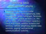 defining basic telecommunications