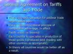 general agreement on tariffs and trade4