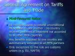 general agreement on tariffs and trade9