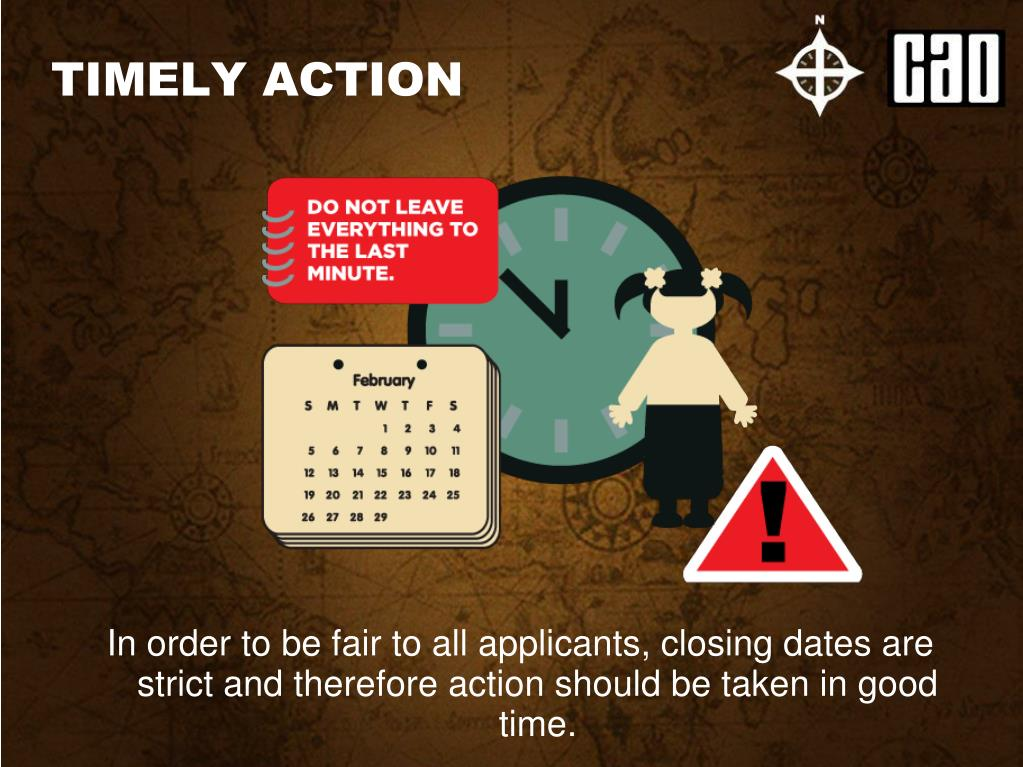 TIMELY ACTION