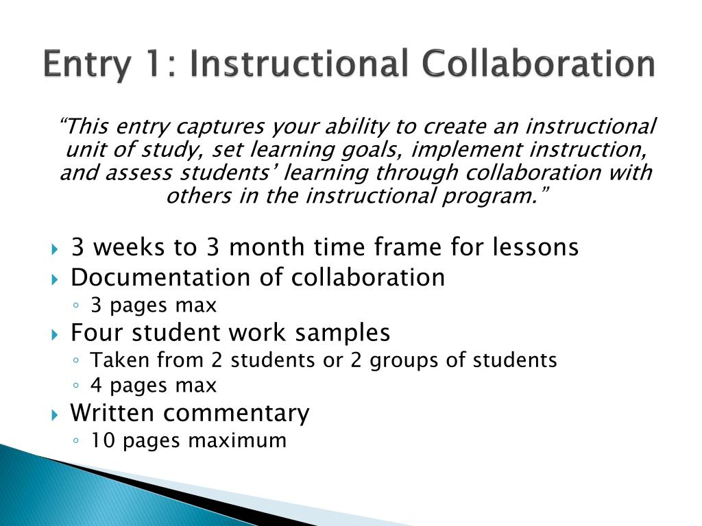 Entry 1: Instructional Collaboration