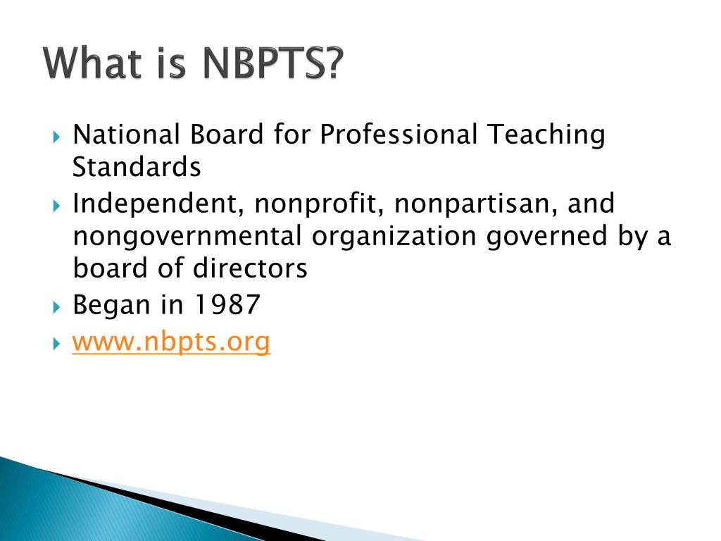 What is NBPTS?