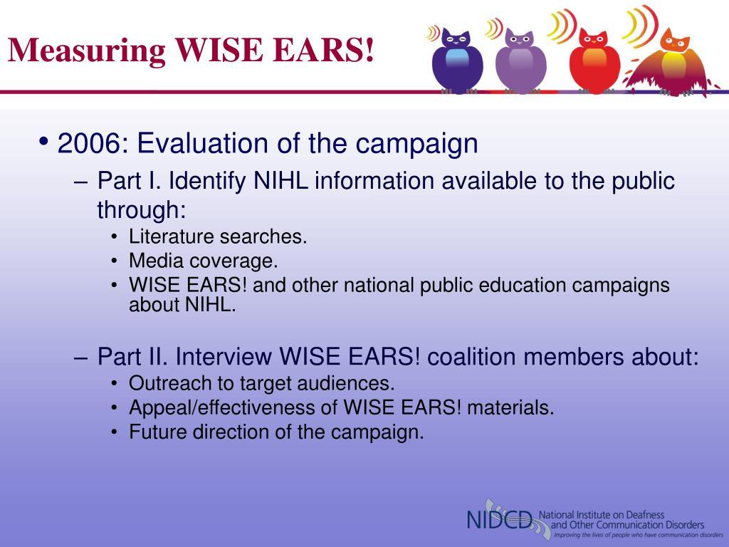 Measuring WISE EARS!