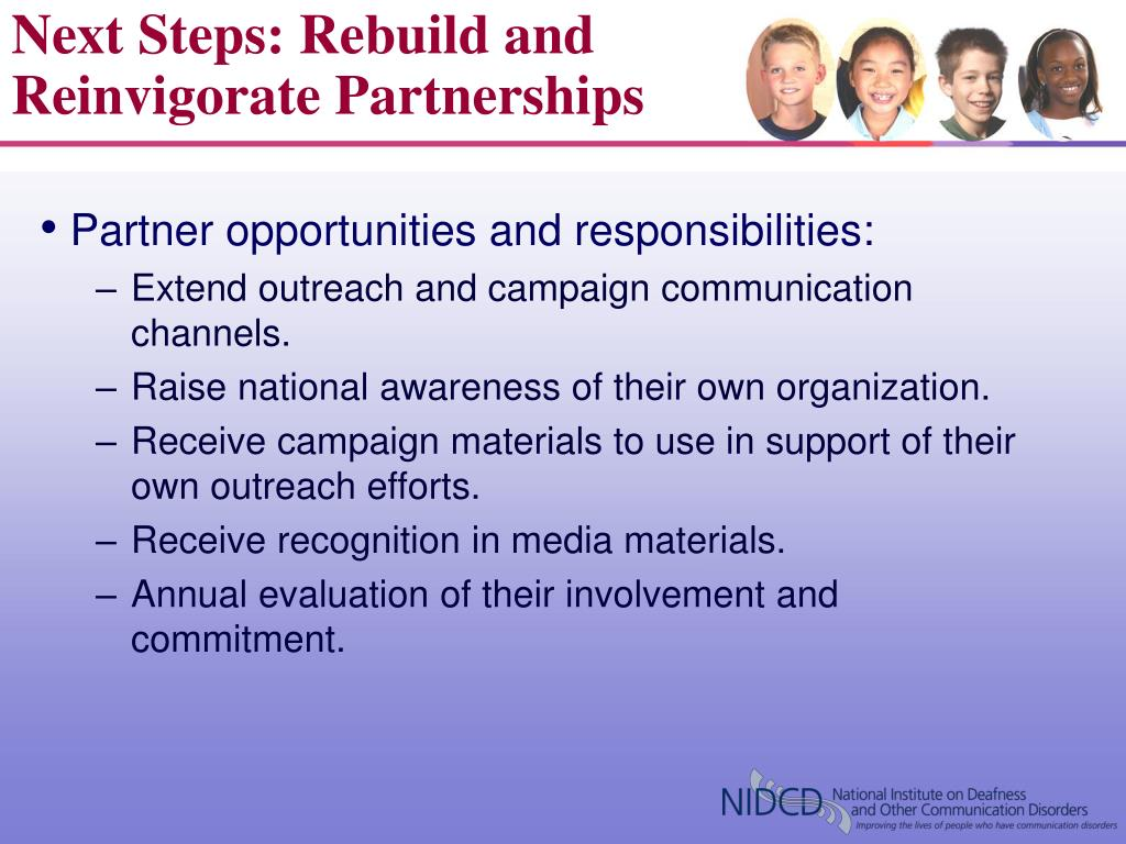 Next Steps: Rebuild and