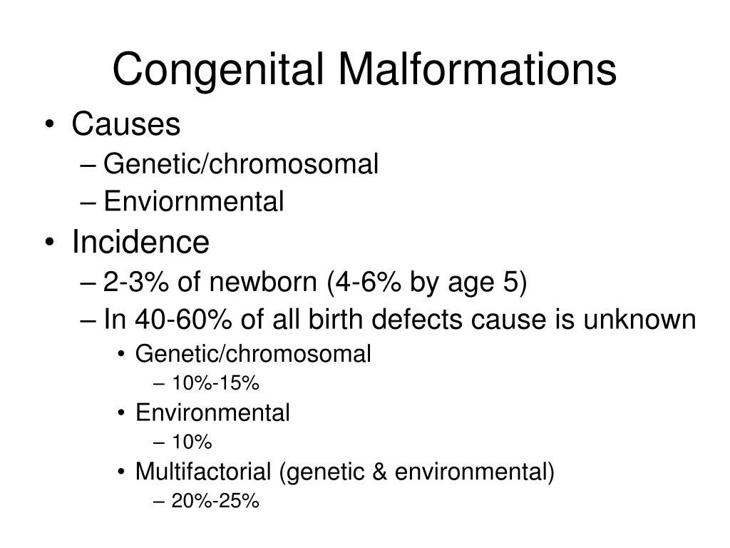 congenital malformations l.