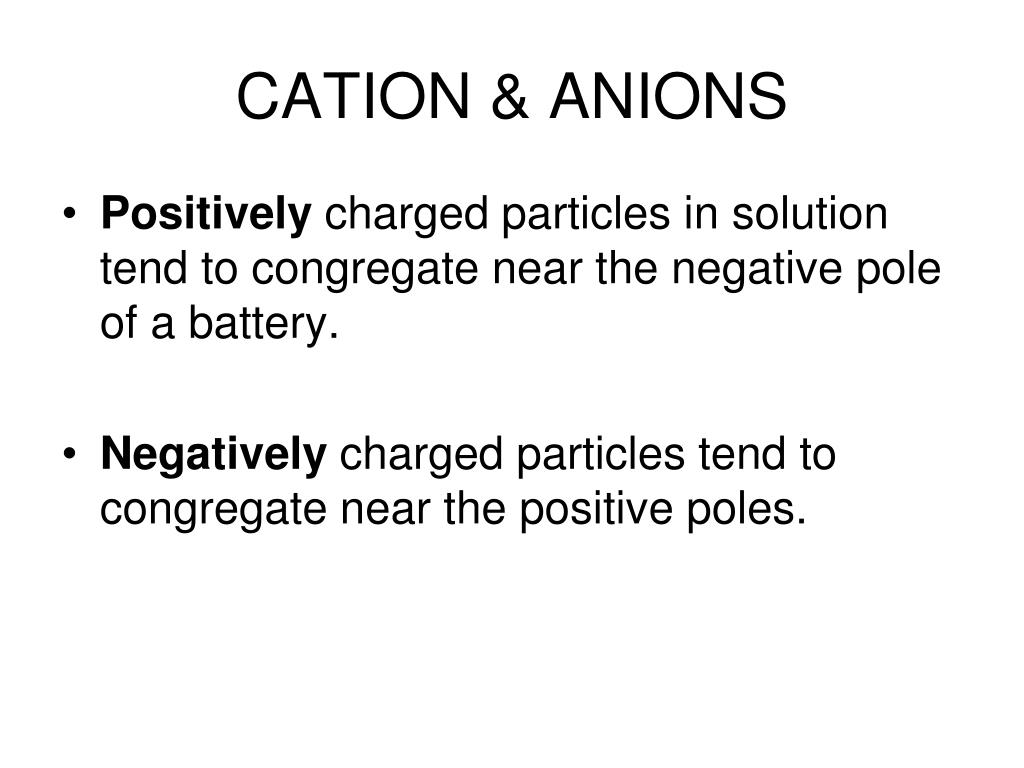 CATION & ANIONS