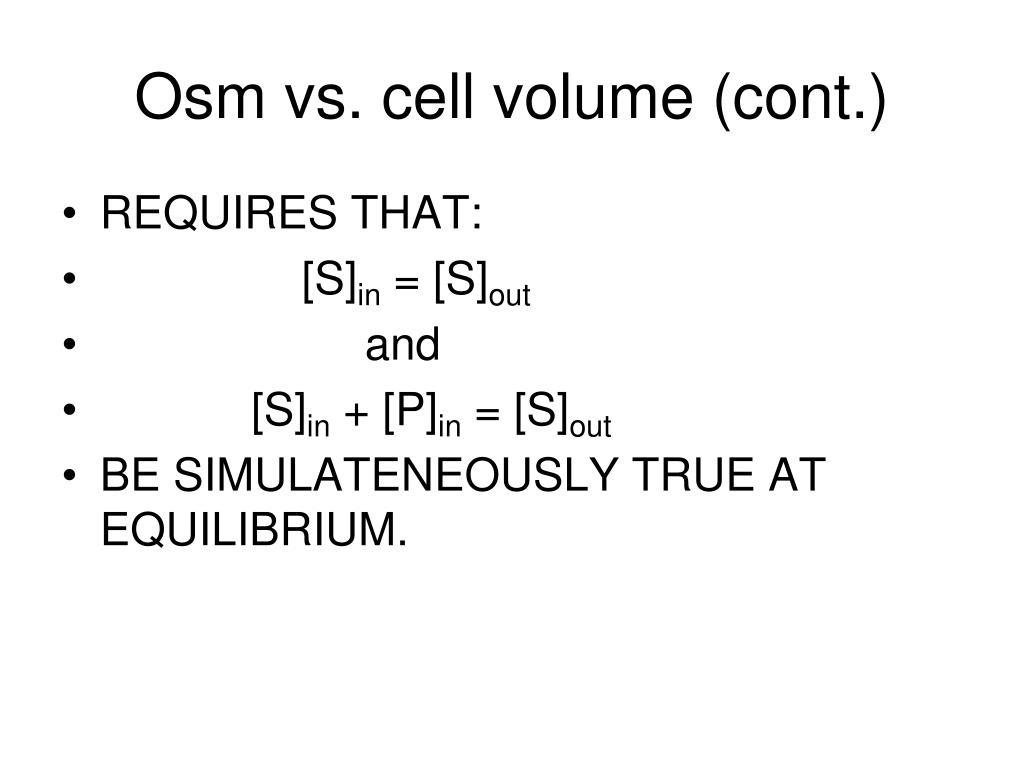 Osm vs. cell volume (cont.)