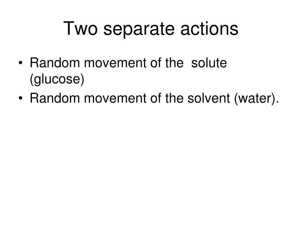 Two separate actions