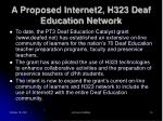 a proposed internet2 h323 deaf education network