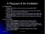 a request an invitation