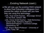 existing network cont11