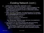 existing network cont9