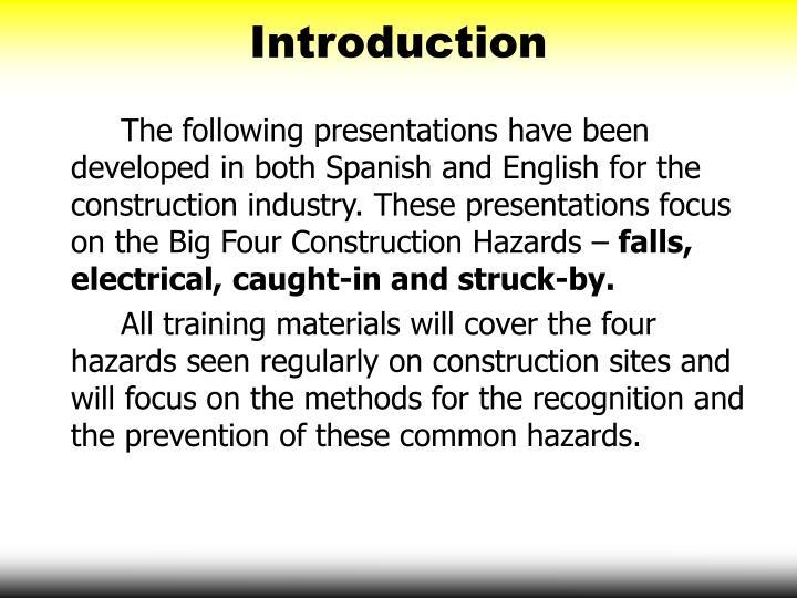 Ppt Big Four Construction Hazards Struck By Hazards
