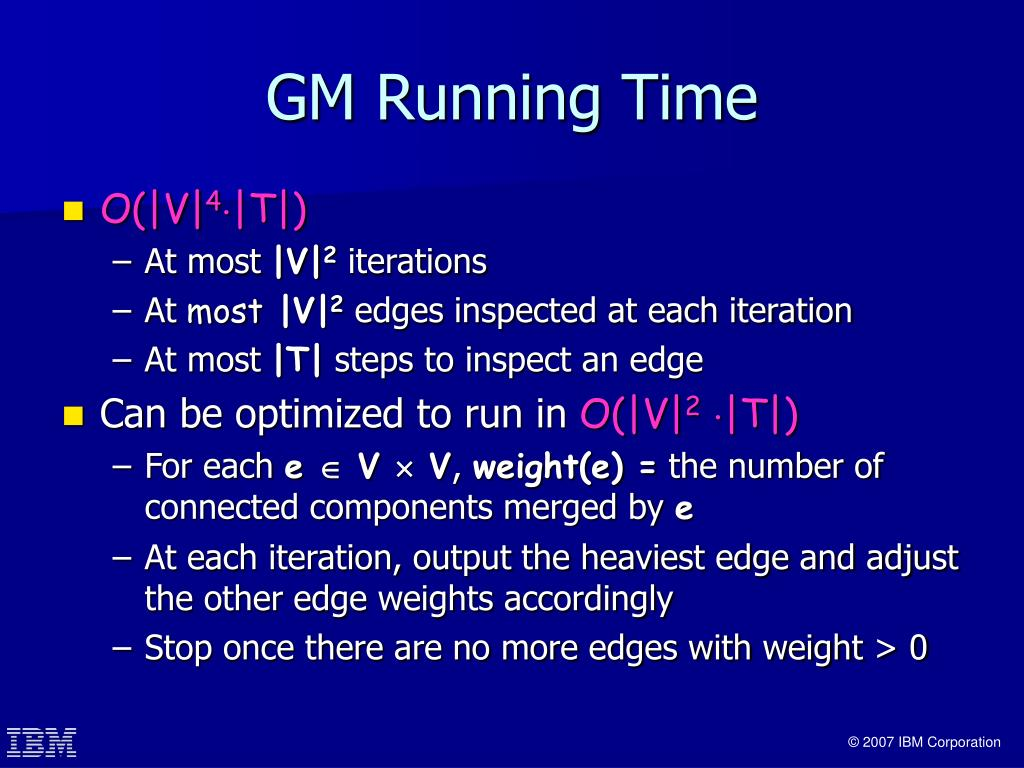 GM Running Time