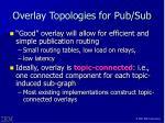 overlay topologies for pub sub