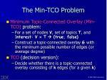 the min tco problem