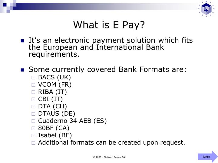 What is e pay