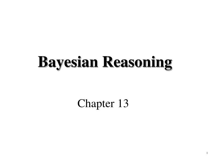 Bayesian reasoning
