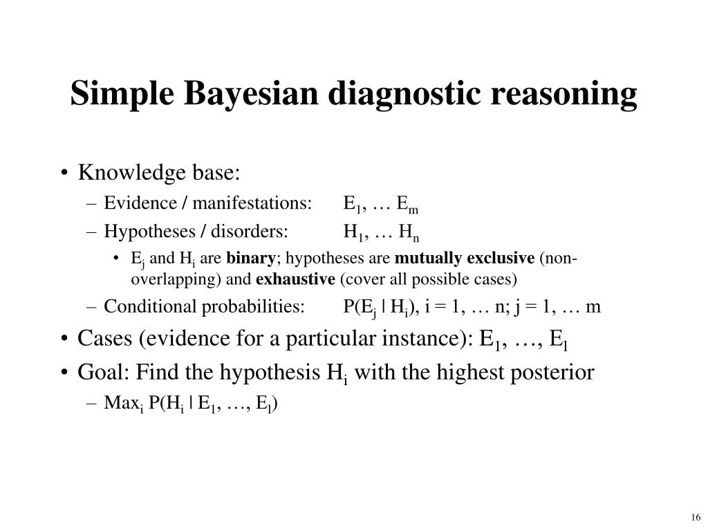 Simple Bayesian diagnostic reasoning