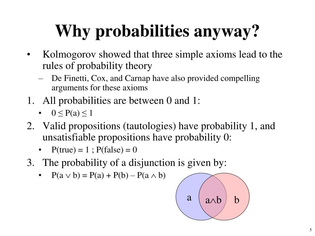 Why probabilities anyway?