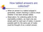 how tabled answers are collected