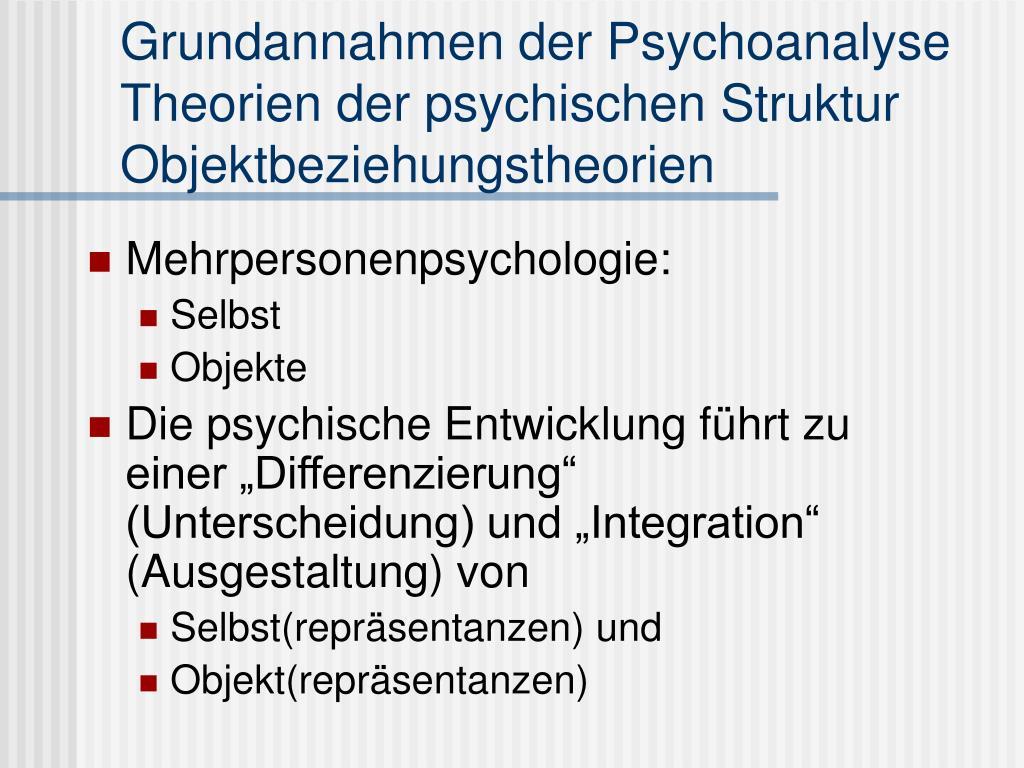 Grundannahmen der Psychoanalyse