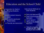 education and the school child