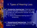 ii types of hearing loss