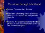 transition through adulthood34