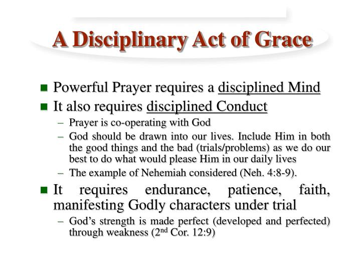 A disciplinary act of grace3