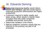 w edwards deming