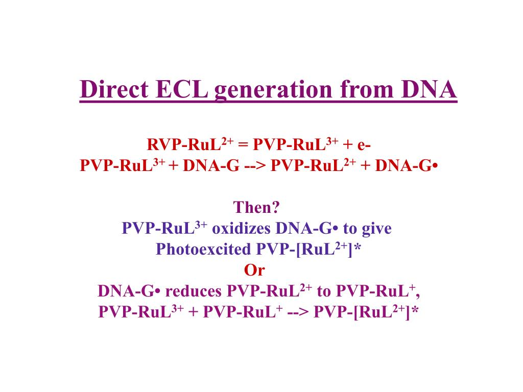 Direct ECL generation from DNA