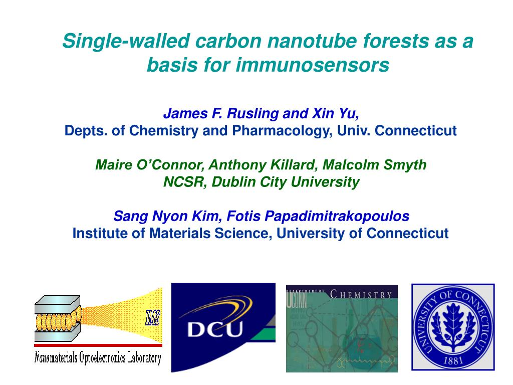 Single-walled carbon nanotube forests as a basis for immunosensors