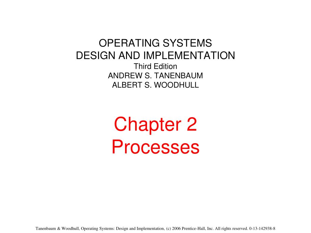 Ppt Operating Systems Design And Implementation Third Edition Andrew S Tanenbaum Albert S Woodhull Chapter 2 Processes Powerpoint Presentation Id 738982