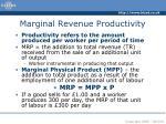 marginal revenue productivity