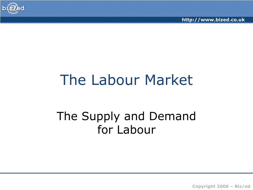 the labour market l.