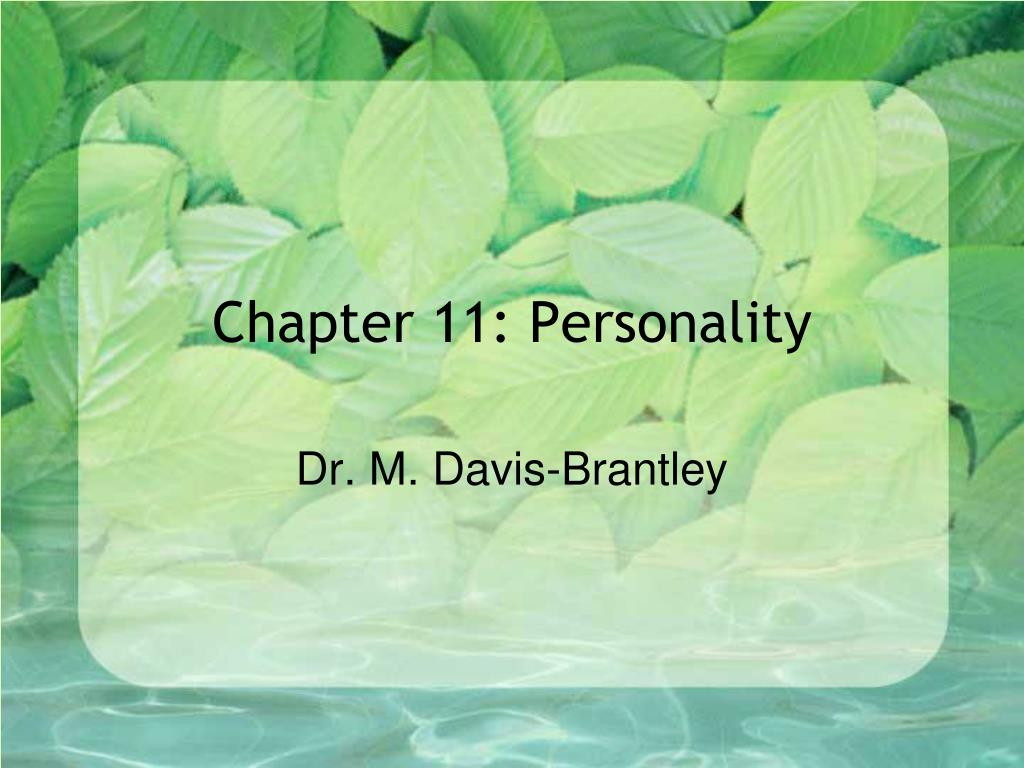 chapter 11 personality l.