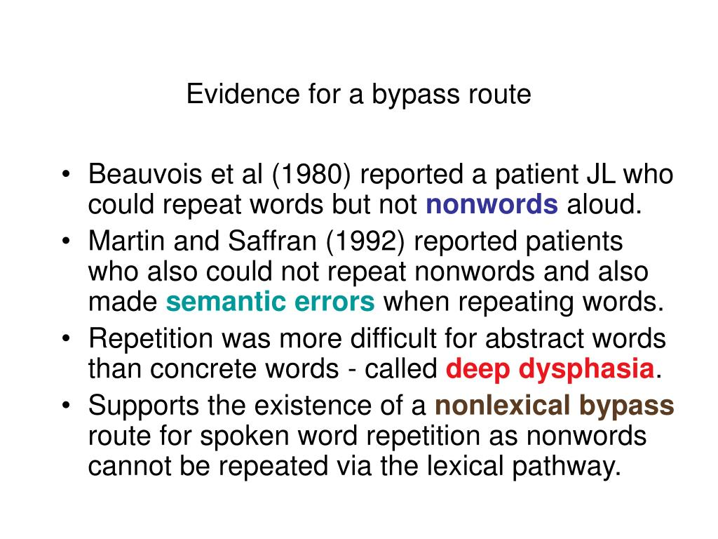 Evidence for a bypass route
