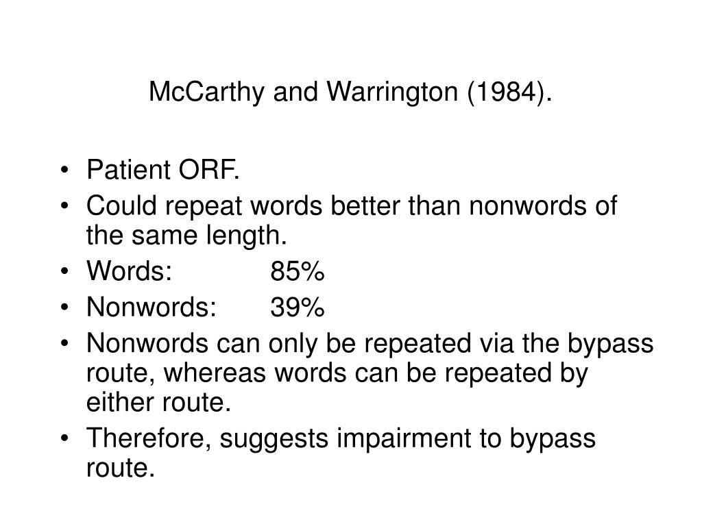 McCarthy and Warrington (1984).
