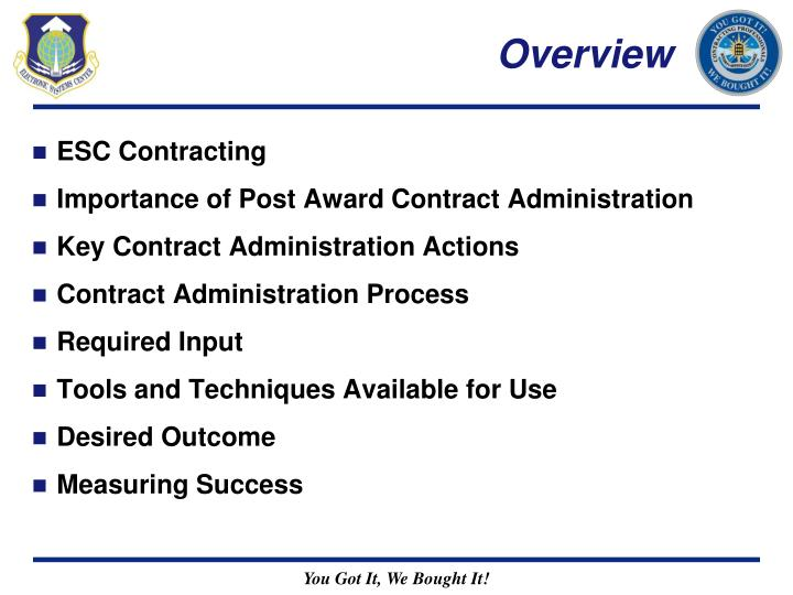 contract administration process