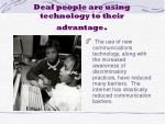 deaf people are using technology to their advantage