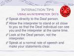 using an interpreter do s