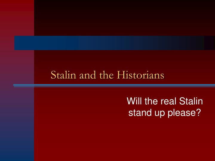 stalin and the historians n.