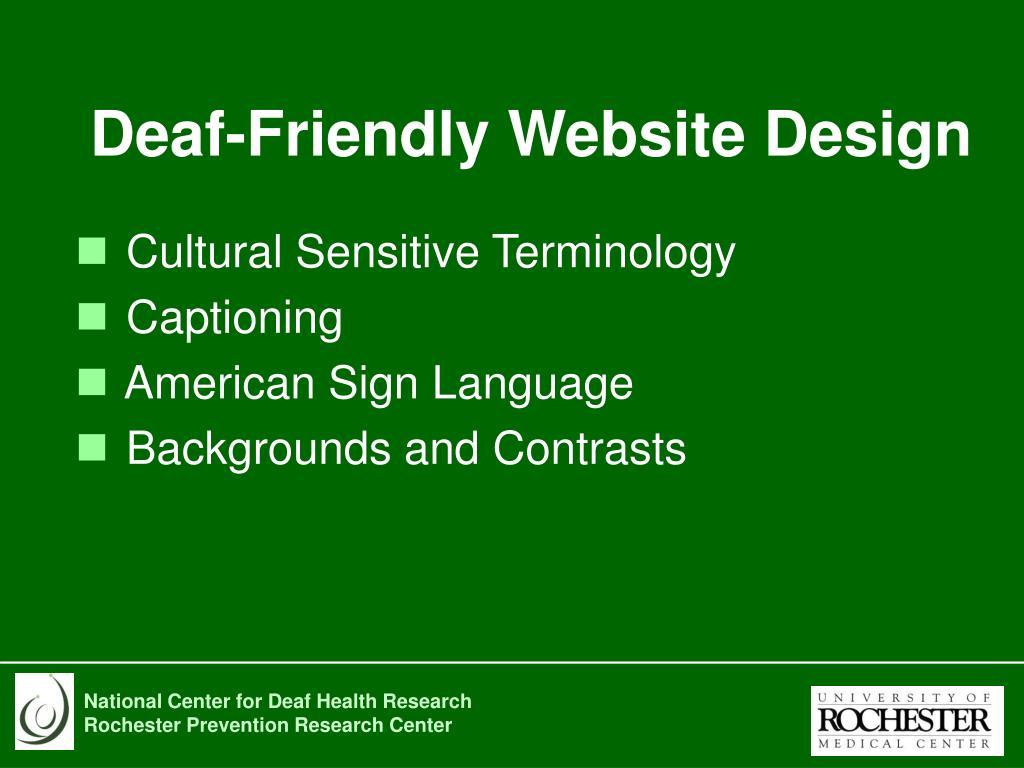 Deaf-Friendly Website Design