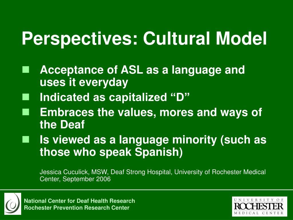 Perspectives: Cultural Model