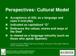 perspectives cultural model