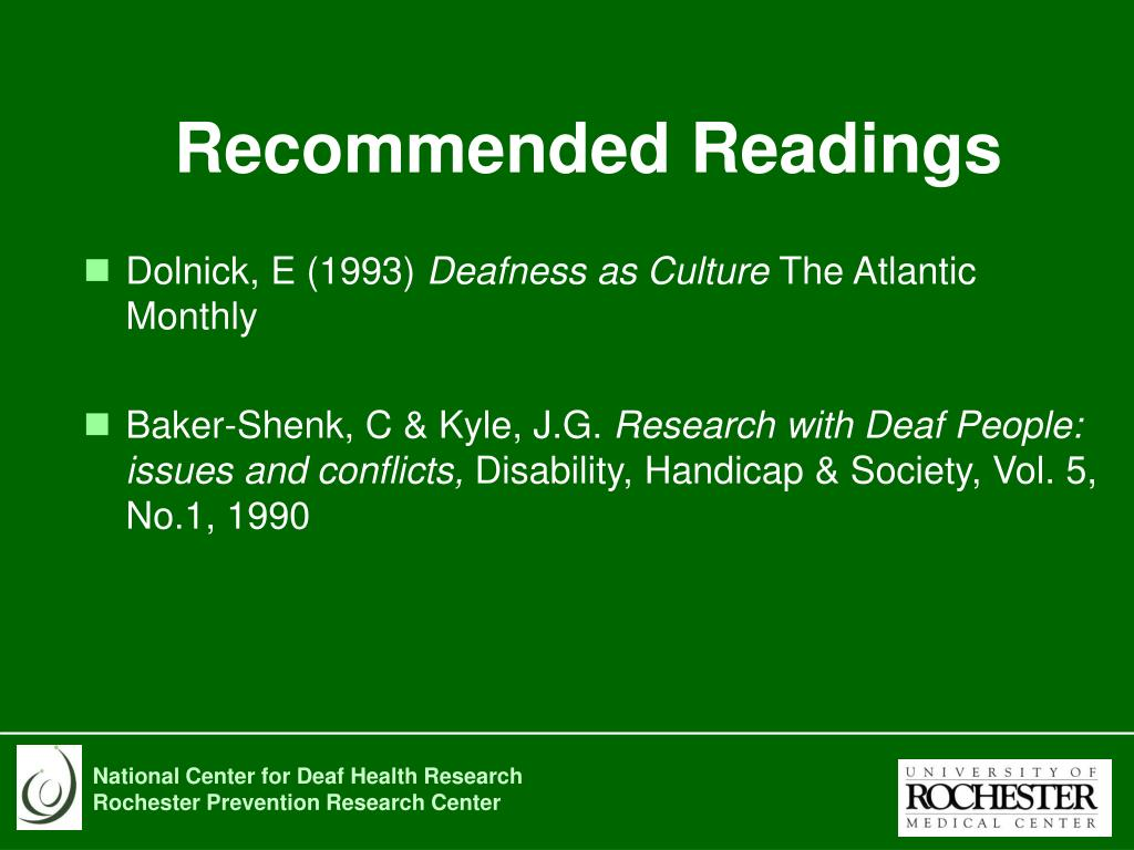 Recommended Readings