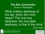 the asl community issues of readability21