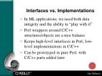 interfaces vs implementations
