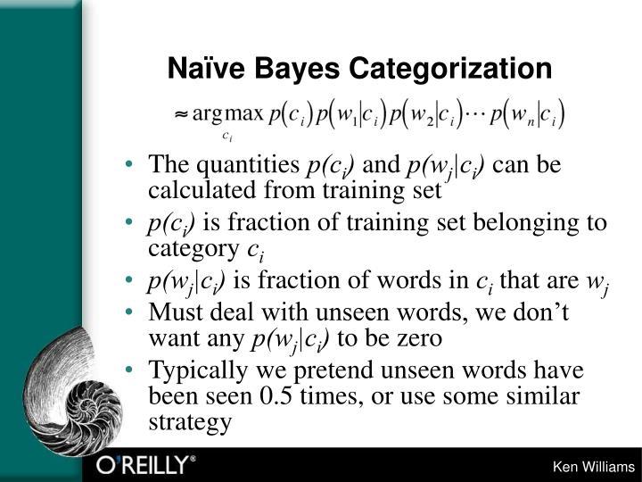Naïve Bayes Categorization